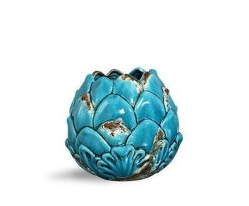CACHEPOT RED. ALCACHOFRA ALTO BLUE MEMORIES