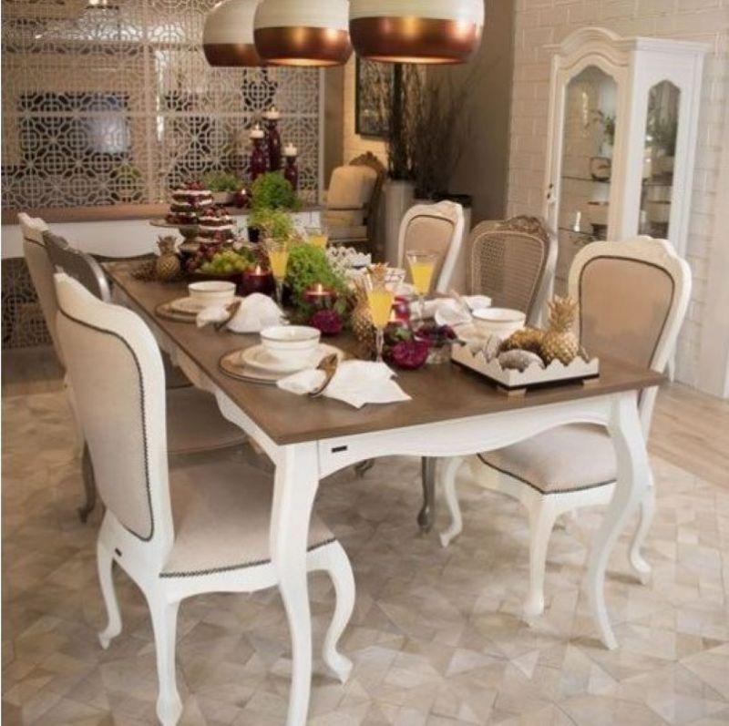 Encante com uma linda sala de jantar provençal
