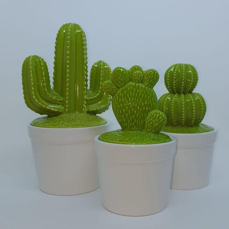 Vasos de cerâmica pontuam o décor com muito charme