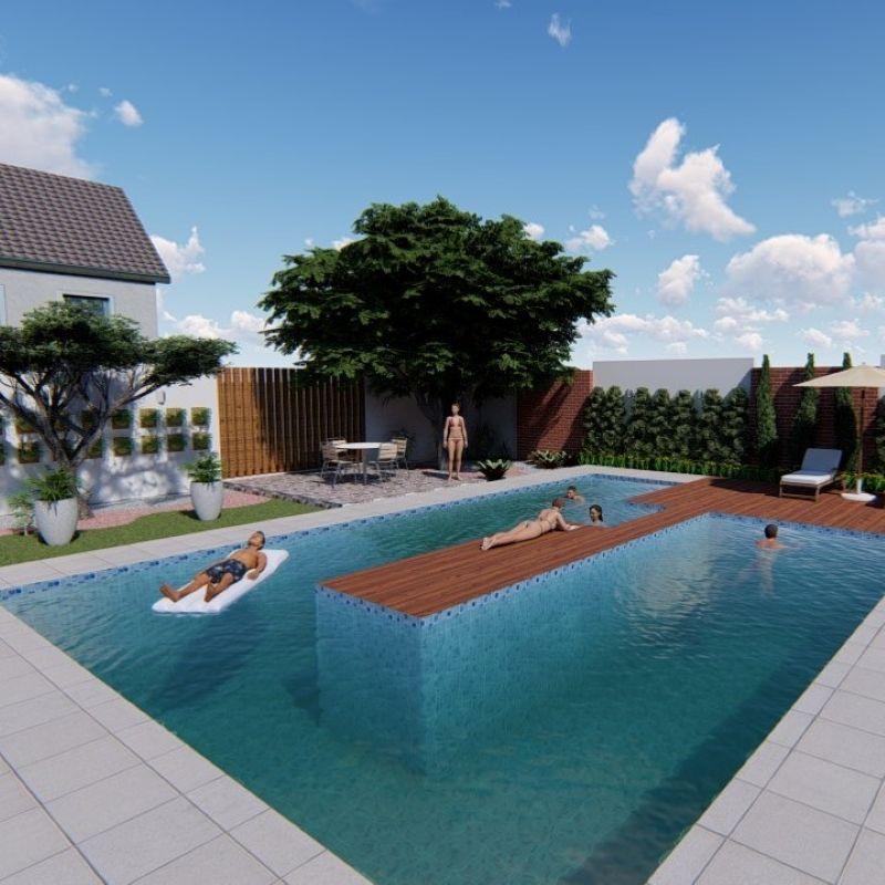 Projeto residencial de paisagismo urbano